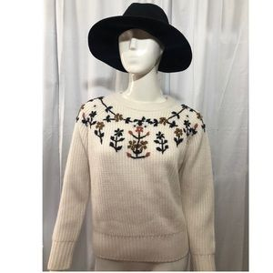 Lucca Couture Knitted Floral Sweater